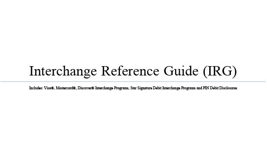 Interchange Reference Guide