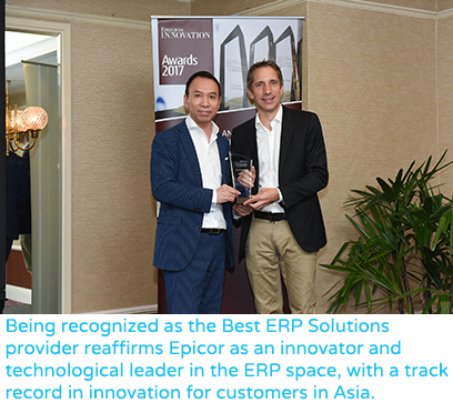 Epicor Software Recognized by Enterprise Innovation Awards in Asia for Best ERP Solution