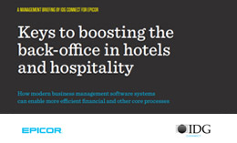 Keys to boosting the back-office in hotels and hospitality