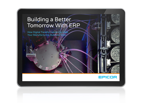 Building a Better Tomorrow eBook with ERP